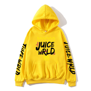 2020 black and white red J UICEWrld hoodie   5