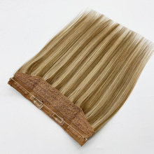 Bluelucky Halo Human Hair Extensions with Two Clips 100% Remy Human Hair