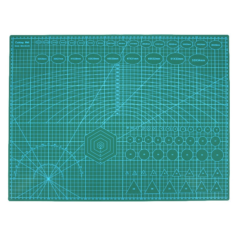 A2 Pvc Double Printed Self Healing Cutting Mat Craft Quilting Scrapbooking Board 60 x 45Cm Patchwork Fabric Paper Craft Tools