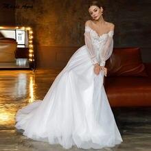 Изящные Свадебные платья magic awn с пышными рукавами кружевные