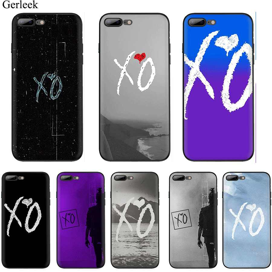Coque TPU pour iPhone 11 Pro Max X XS XR iPhone 6 6s 7 8 Plus 5 se 5 s Cover The Weeknd xo Mignon