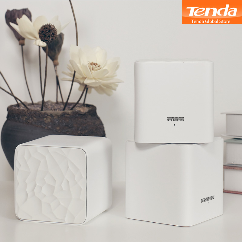 Tenda Nova MW3 Home AC1200 Wireless Router Wifi Repeater Mesh Wi-Fi System Wireless Bridge, APP Remote Manage, Easy Setup(China)
