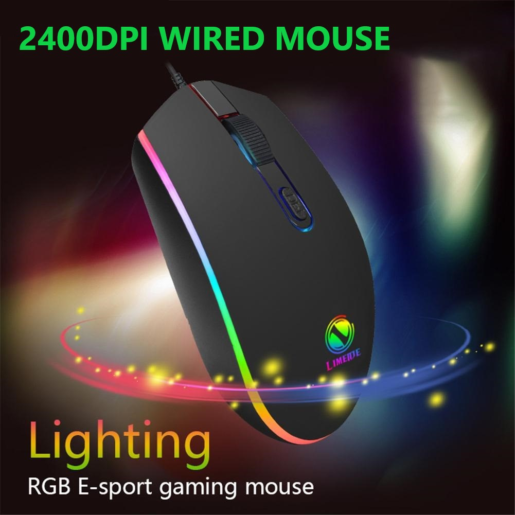 Streamer Marquee Wired Gaming Mouse 2400DPI  Four-speed Adjustable DPI Connect To Laptop 4 Buttons Optical Mouse For PC Laptop