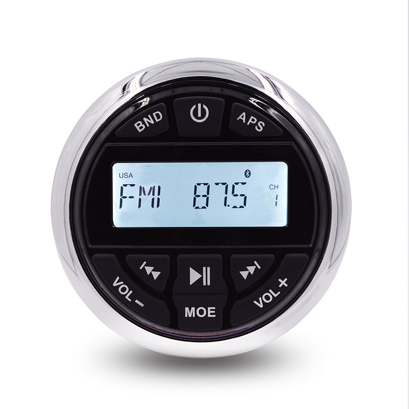 Marine Stereo Bluetooth Waterproof Radio FM AM Receiver Boat Car MP3 Player Auto Sound System For Yacht Golf Cart UTV ATV SPA RV