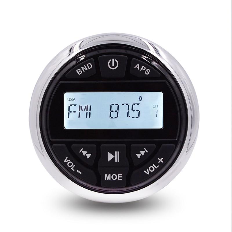 Radio stéréo étanche Bluetooth marin | FM AM récepteur bateau voiture, lecteur MP3 système de son Auto pour Yacht Golf chariot UTV ATV SPA RV