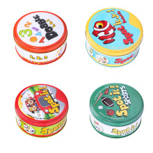 Halloween Dobbles Spot it Hip Hop English Version on Road Board Game High Quality Dobble Metal Tin box
