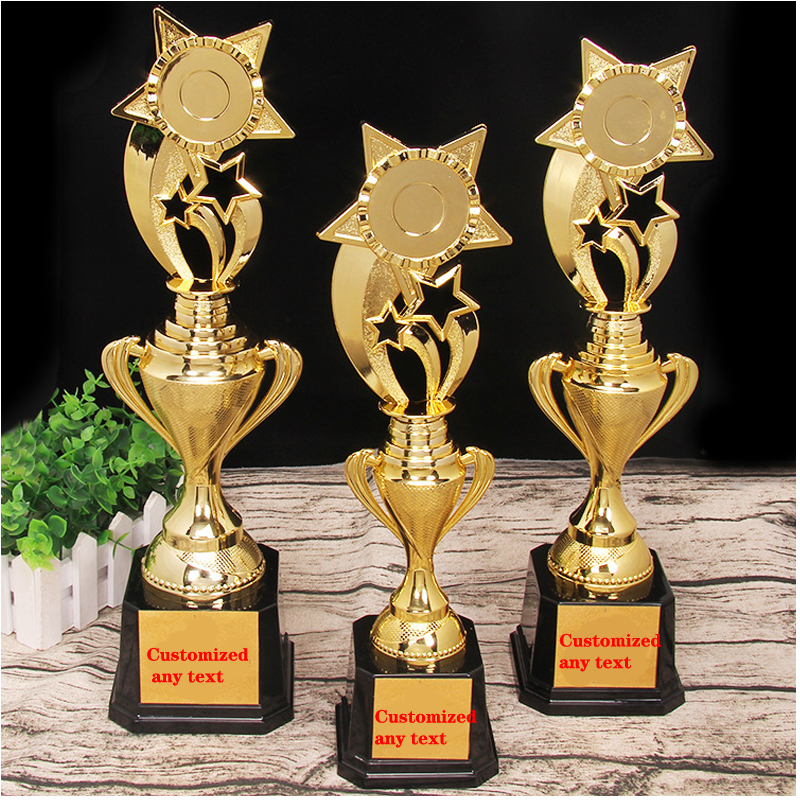 ABS Star Trophy Gold-plated Crafts Creative Souvenir Cup Sports Competition Awards Home Decoration Trophy Academy Customizable