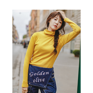 Image 2 - INMAN Spring Autumn Female Wool High Collar Fit Wild Models Slim Pullover Sweater