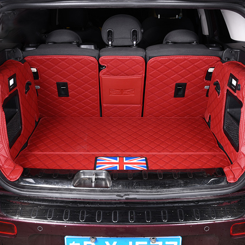 Car Trunk Mat Leather Protection Pad Decoration For MINI COOPER Clubman F54 F55 F56 F60 R60 Countryman Car Styling Accessories