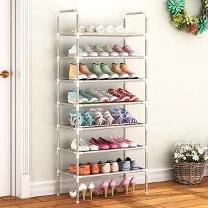Image 2 - シンプルなシューズラック手すりフリーコンビネーションオプション金属靴収納棚多機能多層靴キャビネット