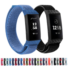 Laforuta Bracelet For Fitbit Charge 3 Band Charge3 Strap Nylon Watchband Women Men Wristband Fitness Sports Loop Accessories NEW