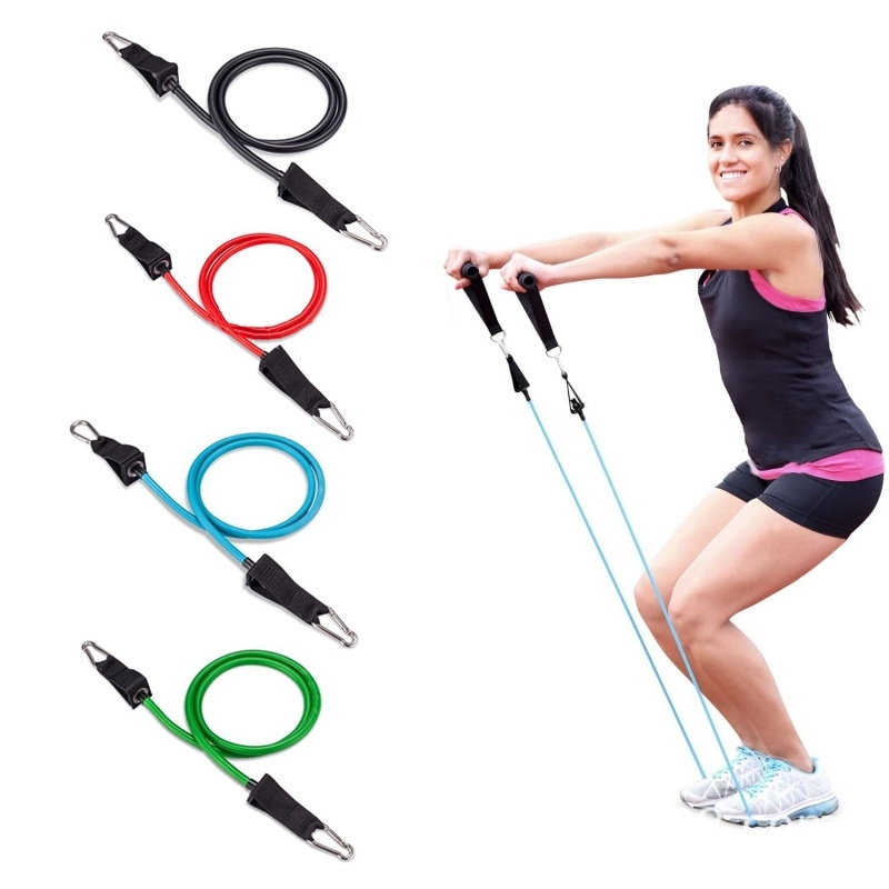 Fitness Yoga Pull Rope Elastic Resistance Bands Exercise Workout Tubes Training Practical Rubber Tensile Expander 120cm