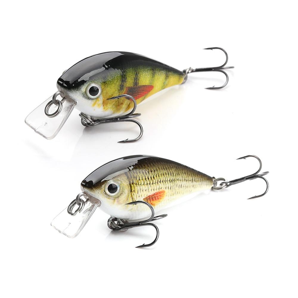 TREHOOK 4.5cm 6g Mini Minnow Wobblers Crank Fishing Lure Artificial Minnow Jerkbait Floating Hrad Lure For Trout Fishing Bait 07