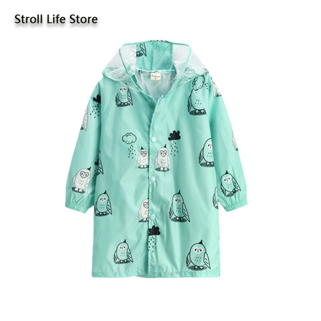 Outdoor Boys Girls Kids Rain Coat Poncho Hat Lightweight Children Cartoon Longrain Coat Suit Waterproof Suit Rain Partner Gift