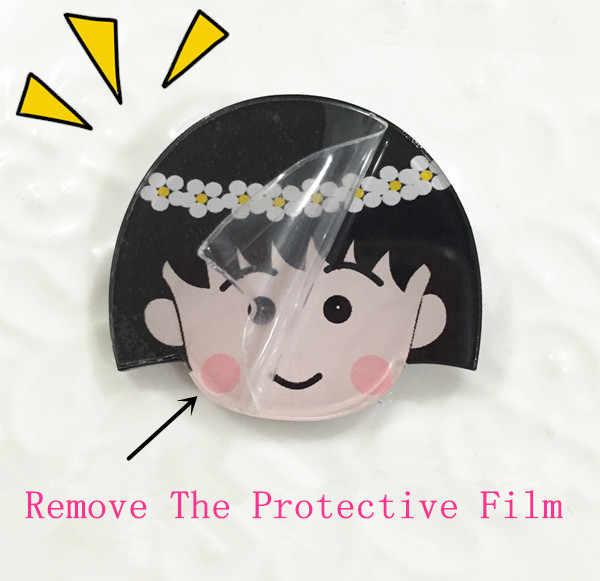 1 Pcs Tanpa Wajah Karakter Pria Ikon Kawaii Lencana Harajuku Acrylic Pin Lencana Kartun Ransel Pakaian Diy Bros