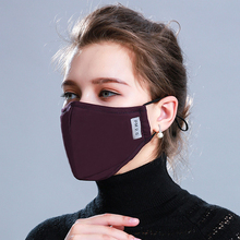 Cotton PM2.5 Black mouth Mask anti dust mask Activated carbon filter Windproof Mouth muffle bacteria proof Flu Face masks Care