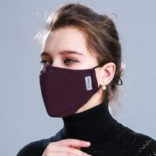 Katoen PM2.5 Zwarte Mond Masker Anti Stofmasker Actieve Kool Filter Winddicht Mond Moffel Bacteriën Proof Griep Gezicht Maskers zorg