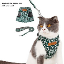 Шлейка поводок в японском стиле для кошек комплект дышащая сетчатая