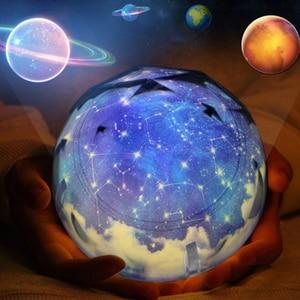 Image 5 - Stars Starry Sky LED Night Light Projector Luminaria Moon Novelty Table Night Lamp Battery USB Night Light For Children