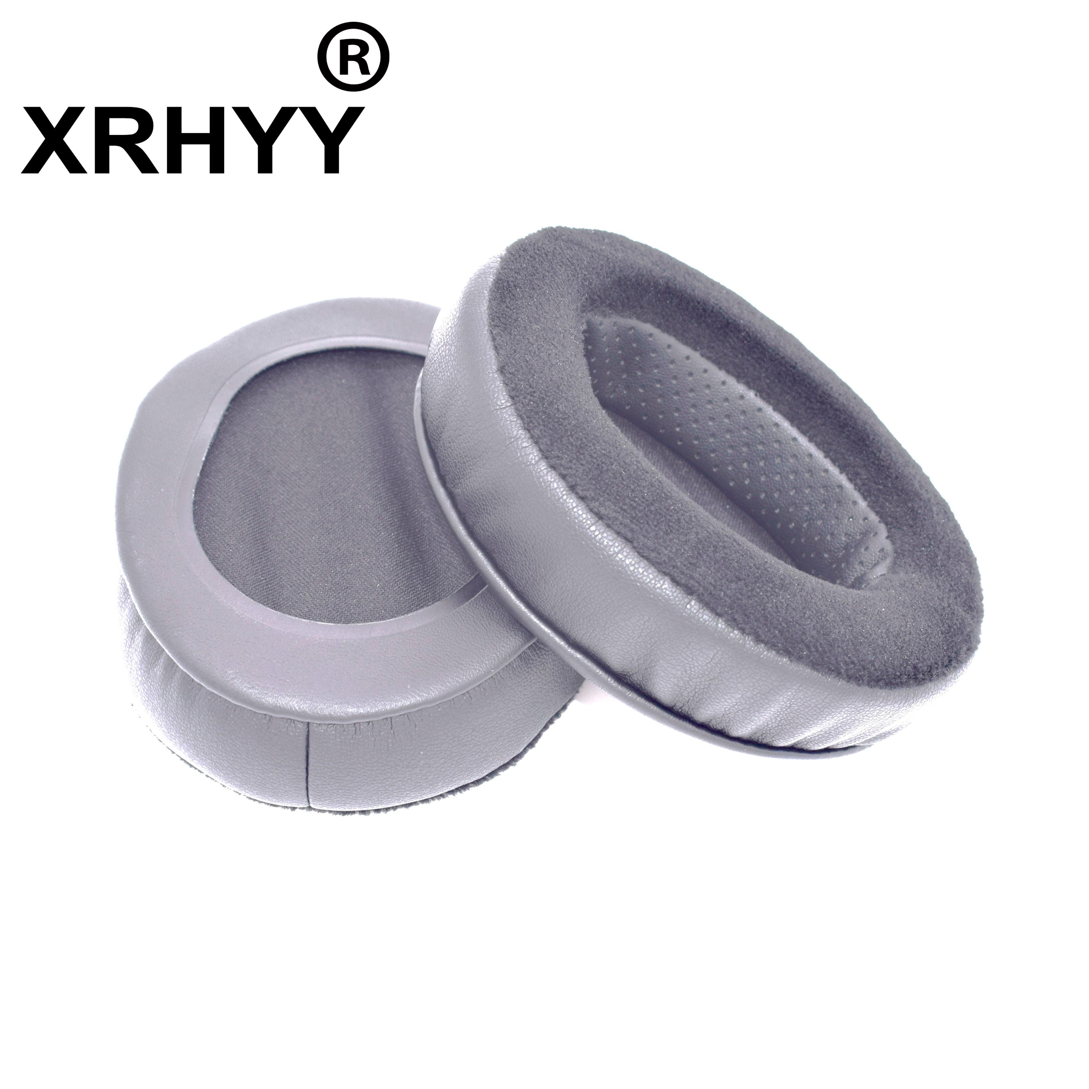 XRHYY Memory Foam Earpad - Black PU/Velour - Suitable For Large Over The Ear Brainwavz Hybrid Headphones