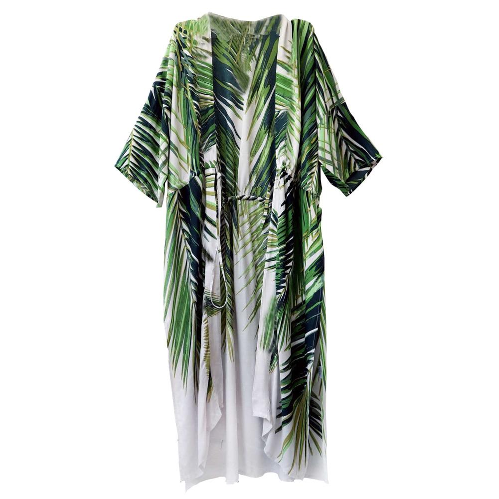 Seaside Holiday Cardigan Robes Beach Outdoor Chiffon Printed Blouse Loose Shawl Women's Summer Coat 420127