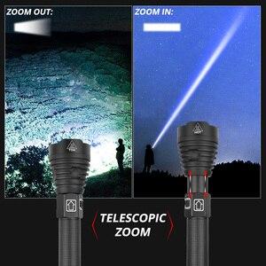 Image 4 - XLamp XHP90 en güçlü Usb zumlanabilir Led el feneri Xhp70.2 taktik flaş ışıklı fener 26650 veya 18650 pil avcılık için