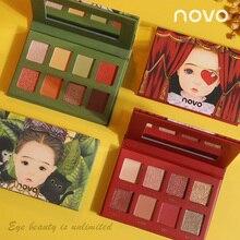 NOVO 8 Color Matte Shimmer Fantasy Elf Eyeshadow Palette Diamond Shiny Nude Eye