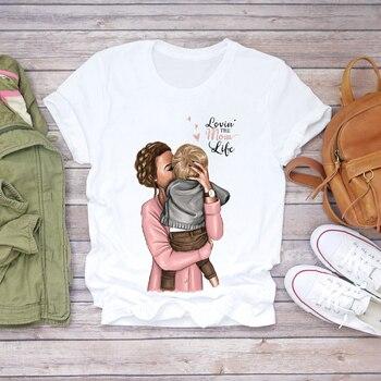Women Cartoon Super Mom Life Momlife Summer Print Lady T-shirts Top T Shirt Ladies Womens Graphic Female Tee T-Shirt 19