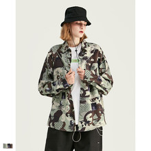 Cooo Coll Men women shirts kanye west hip hop autumn camouflage print streetwear military tops casual long sleeve dress