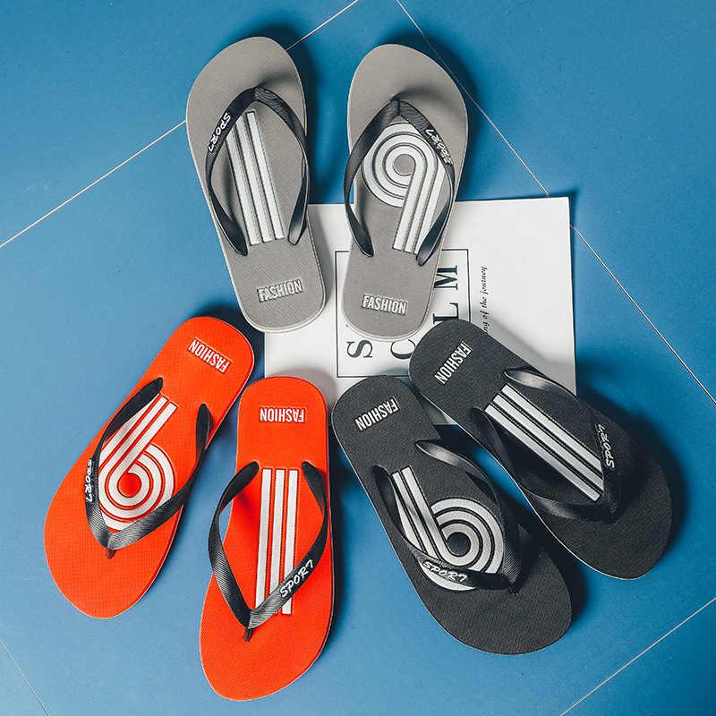 Yaz 2019 yeni plaj terlikleri erkek rahat erkekler Flip-flop terlik ev ayakkabı erkekler lastik terlik açık toptan X-141