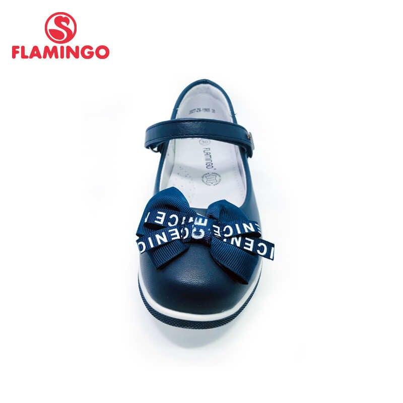 Flamingo Nieuwe Strik Voetboog Ontwerp Een Lente & Zomer Maat 30-36 School Schoenen Voor Meisje Gratis Verzending 202T-Z6-1965/66