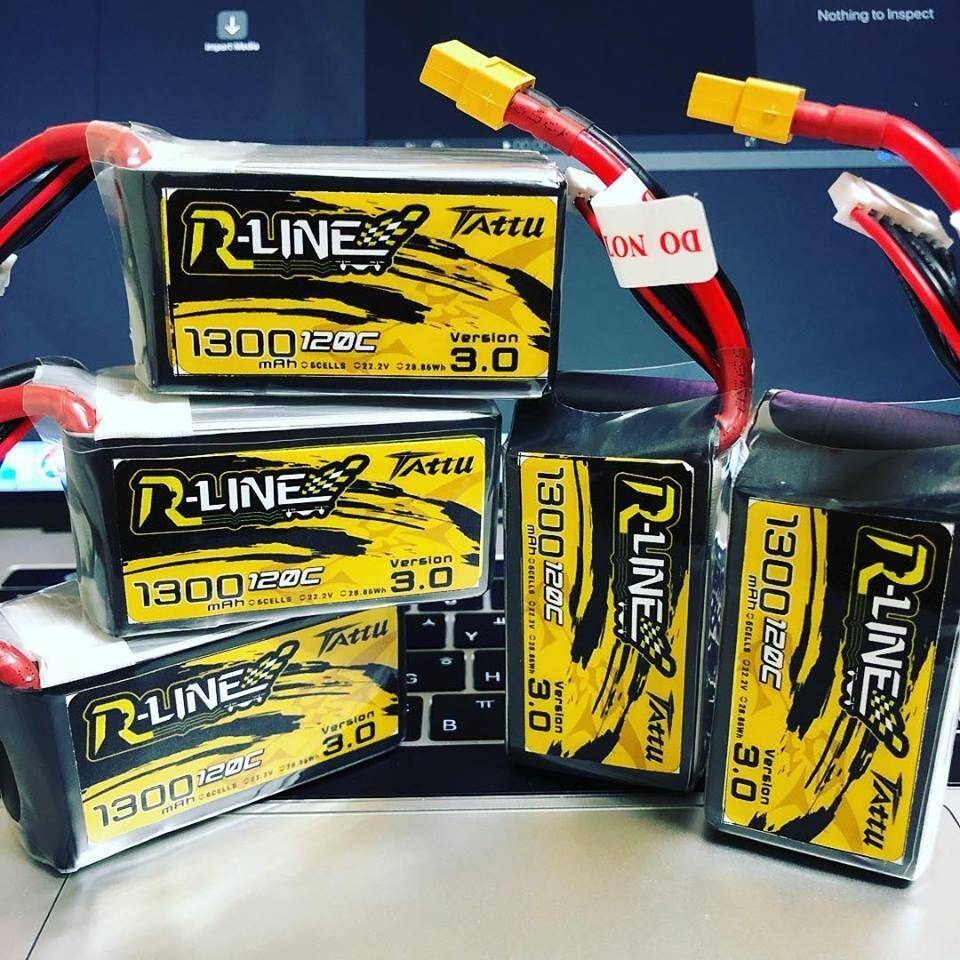 Tattu R-Line Version 3.0 V3 1300/1400/1550/1800/2000mAh 120C 4S 6S 4.2V Lipo Battery XT60 Plug FPV Racing Drone RC Quadcopter