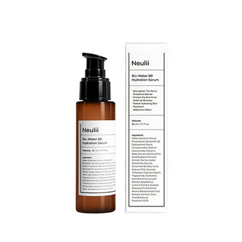 NEULII Bio-Water B9 Hydration Serum 80ml Vitamin Moisturizing Whitening Essence Anti Wrinkle Firming Face Cream Acne Treatment