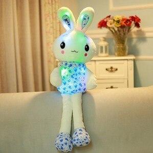 "Image 2 - ""חמוד ארנב"" זוהר ממולא בעלי החיים בובה בפלאש צעצוע יום הולדת חג המולד מתנה"