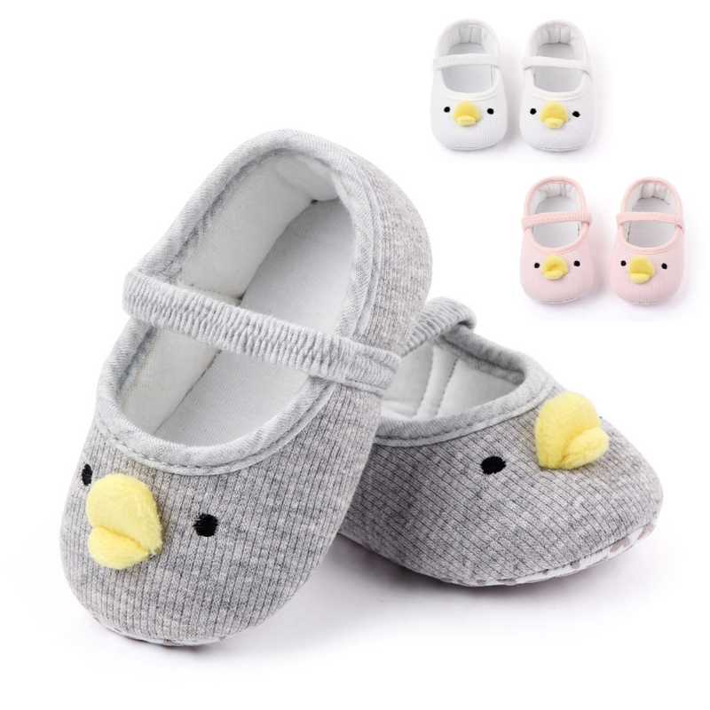 Newborn Toddler Baby Boys Girls Yellow Duck Crib Shoes Infant Cartoon Soft Sole Non-slip Cute Warm Animal Baby Shoes L