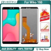新オリジナルの場合 Wiko Y60 液晶 & タッチスクリーンデジタイザとフレーム表示画面モジュールアクセサリーアセンブリの交換ツール