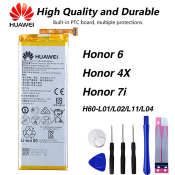 Original Huawei HB4242B4EBW Phone Battery For Huawei honor 6 honor 4X honor 7i H60-L01 H60-L02 H60-L11 H60-L04 3000mAh цена 2017