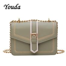 Youda 2019 New Summer Simple Original Retro Handbag Classic Sweet Solid Color Crossbody Tote Fashion Chain Strap Shoulder Bag