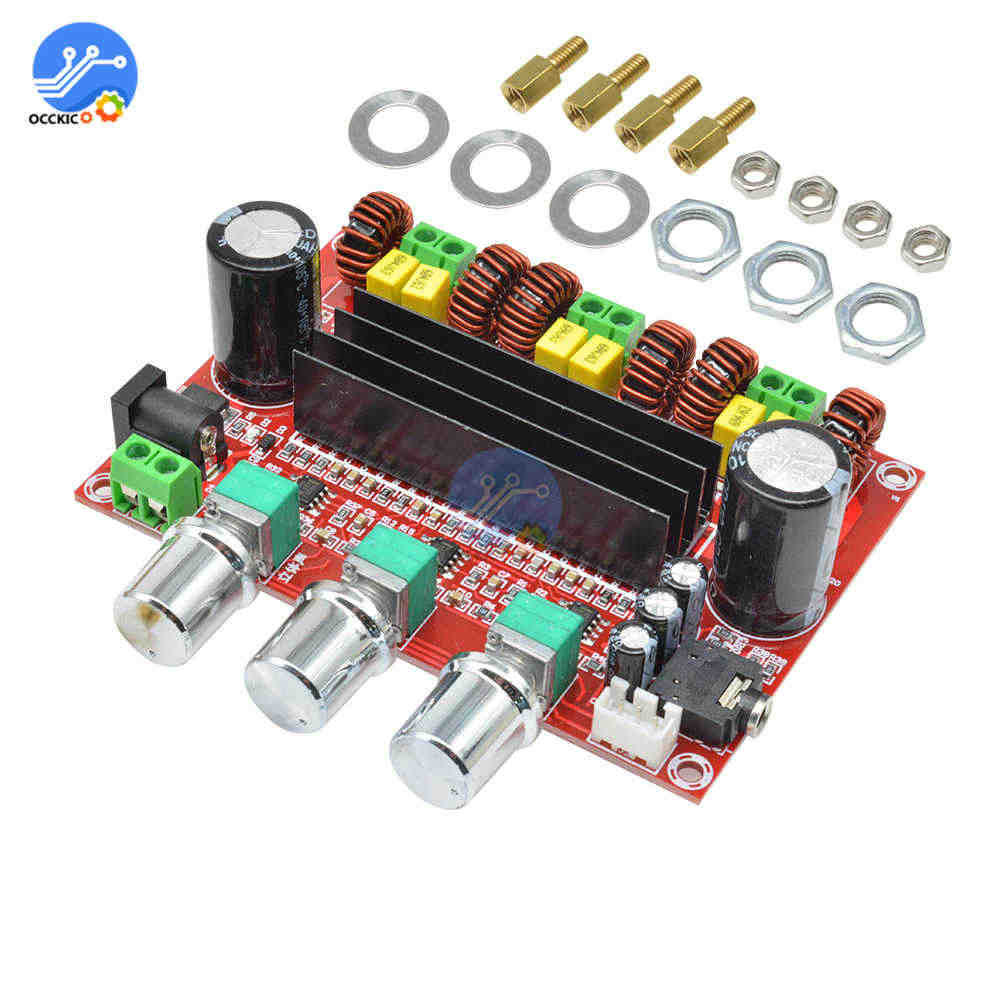 TPA3116D2 Amplifier Papan Dual-channel Stereo High Power Digital Audio Power Amplifier Board 2X50W + 100W Speaker Sound modul