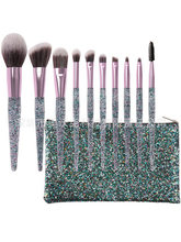 New Style 10 PCs Makeup Brush 10 Sequin Quicksand Makeup Brush Set Eye Beauty Tools(China)