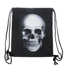 Unisex Waterproof String Drawstring Backpack 3D Print Gym School Shoe Bag L9BE