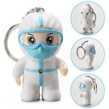 Porte-clés de voiture ange blanc, petit porte-clés exquis d'infirmière de dessin animé, pendentif avec crochet, cadeau de Thanksgiving, jouet créatif