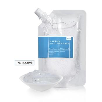 200ML DIY wyczyść błyszczyk baza olej nieprzywierający nawilżający szminka materiał żel do błyszczyka baza Handmade szminka w płynie zestaw