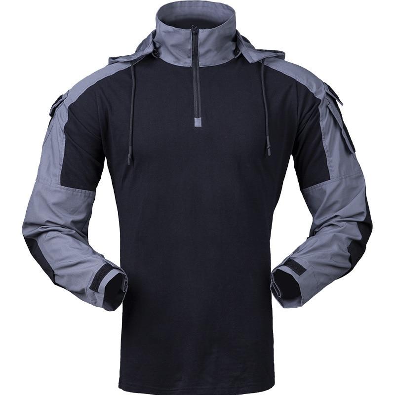 Tactical Gen3 Hooded Camo Uniform Military Shirt Army Fan CS Field Shooting Training Combat Tops Men Outdoor Sport Hiking Shirts