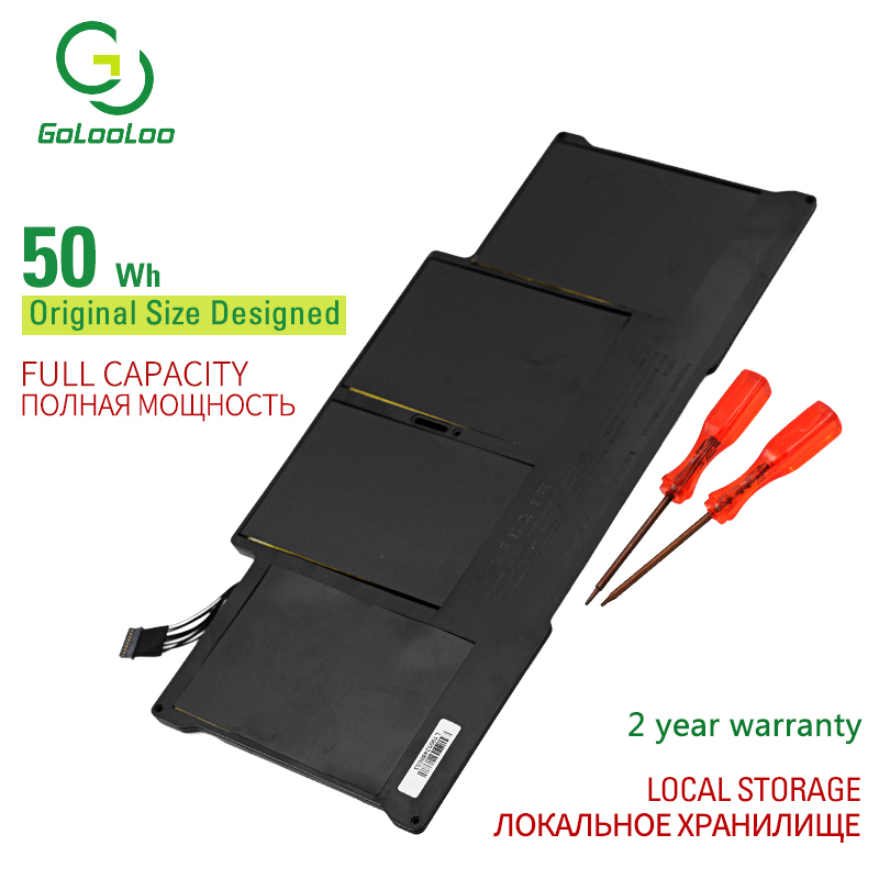 """Golooloo 50WH laptop Battery for Apple MacBook Air 13"""" A1466 2012 year A1369 2011 2012 2013 2014 production Replace A1405 A1496"""
