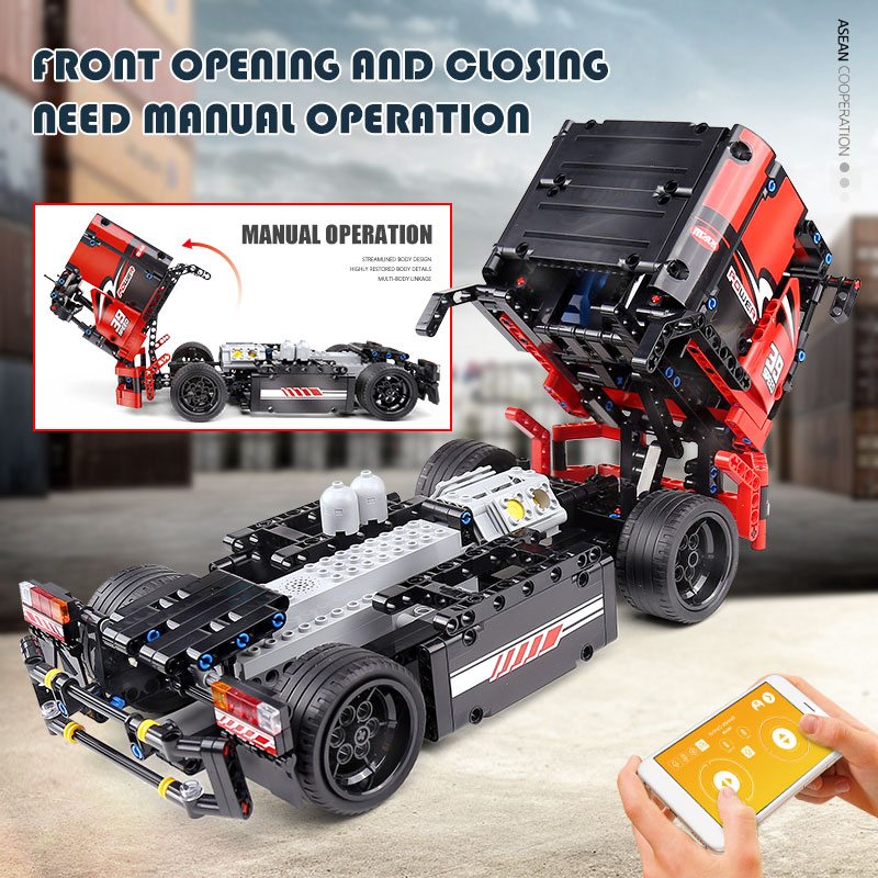 MOULD KING 15002 The 42041 Red Racing Car With Motor Function Building Blocks