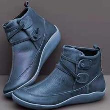 Теплые женские ботинки удобные ботинки на платформе из мягкой кожи в винтажном стиле женские зимние водонепроницаемые ботинки на плоской подошве с круглым носком