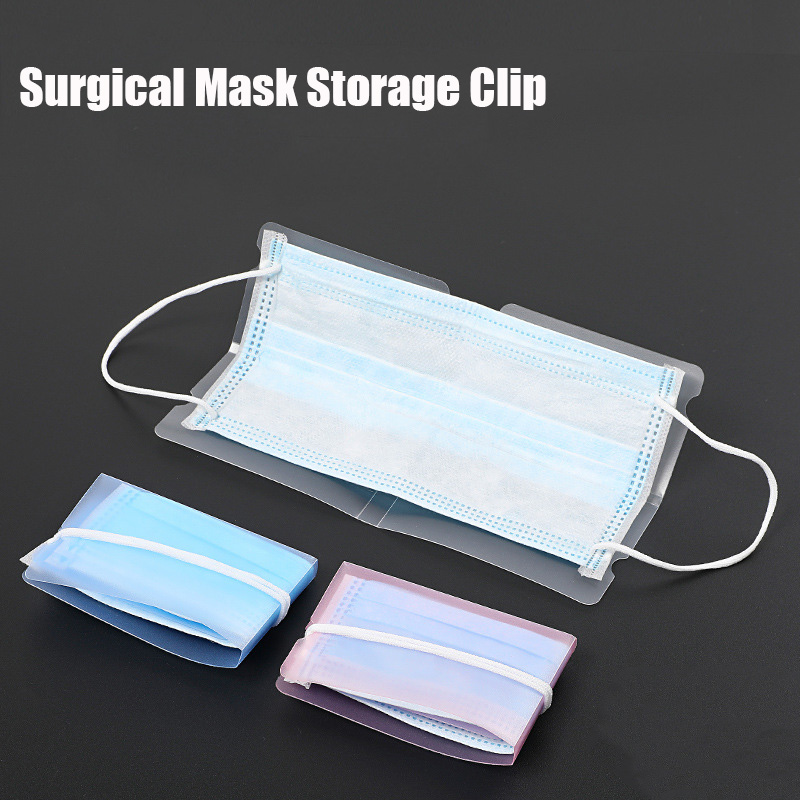 10Pcs/Pack Surgical Mask Storage Clip Folding Temporary Mask  Storage Clip Storage Box Pocket Convenient And Easy To Carry