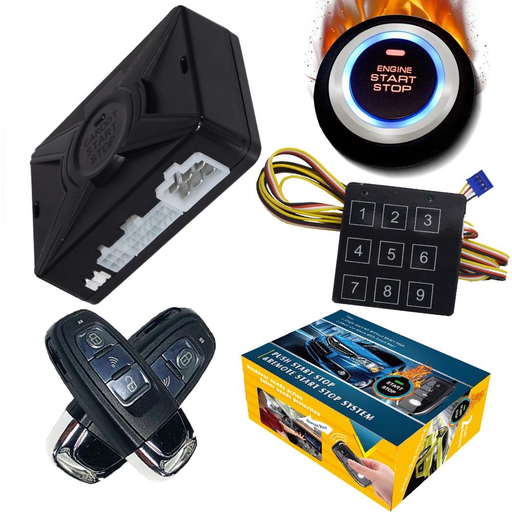 Cardot Smart Push Start Stop Engine Keyless Entry System Best Car Alarms Remote Engine Start Auto Car Alarm System