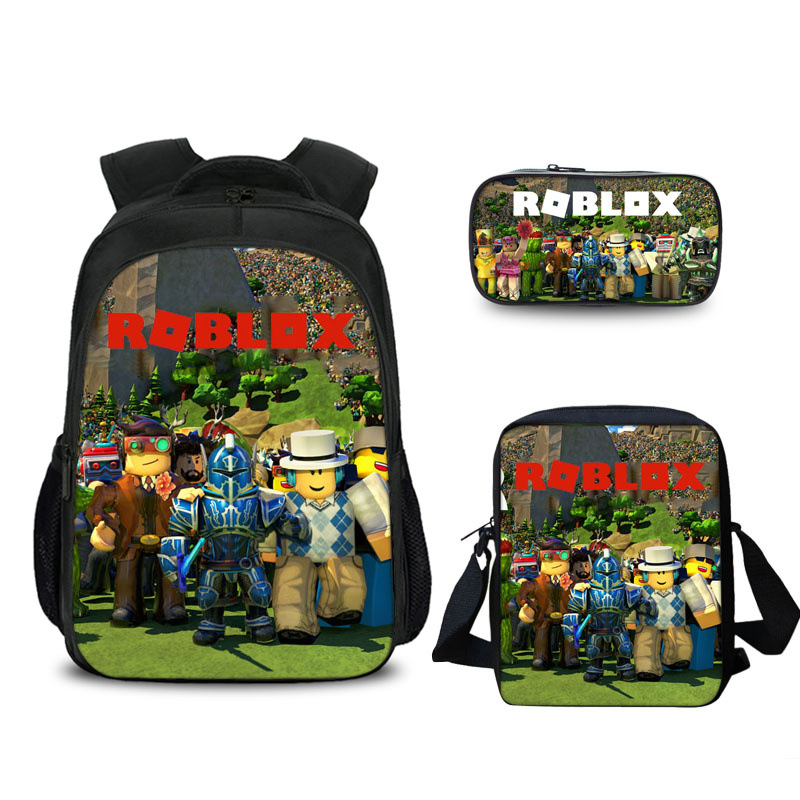 3 pcs/set game Backpack mochila boy kid Bags School Pencil Case Students Students Best Gifts for Children School Bags